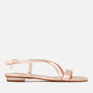 Dune Women's Nienna Strappy Flat Sandals - Rose Gold