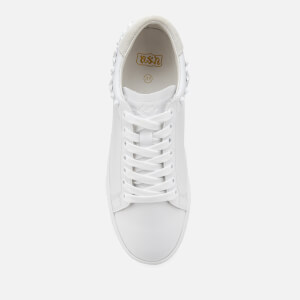 Ash Women's Dazed Leather Low Top Trainers - White Snow: Image 3