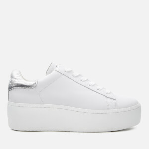Ash Women's Cult Nappa Leather Flatform Trainers - White/Moon