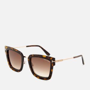 Tom Ford Women's Lara Square Frame Sunglasses - Dark Havana: Image 2