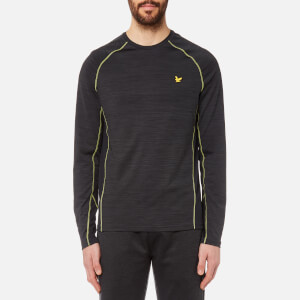 Lyle & Scott Men's Jenkins Long Sleeve Training T-Shirt - True Black
