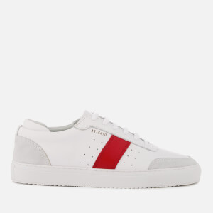 Axel Arigato Men's Dunk Leather/Suede Trainers - White/Red