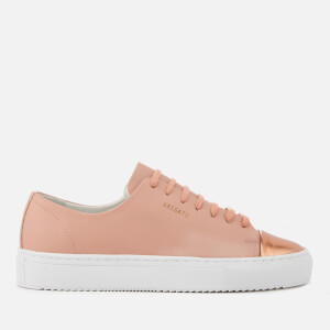 Axel Arigato Women's Cap Toe Metallic Leather Trainers - Nude