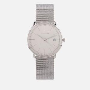 Junghans Men's Max Bill Quartz Watch - White/Silver