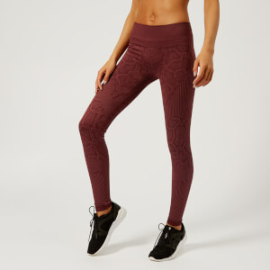 Varley Women's Quincy Tights - Windsor Wine Snake
