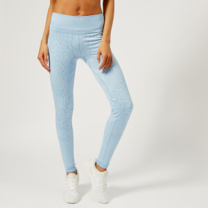 Varley Women's Quincy Tights - Sky Blue Snake