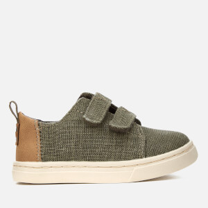 TOMS Toddlers' Lenny Coated Canvas Trainers - Cypress