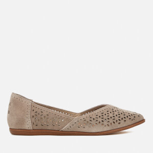 TOMS Women's Jutti Suede Pointed Flats - Desert Taupe