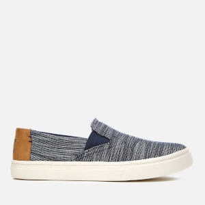 TOMS Kids' Luca Chambray Slip-On Trainers - Navy Striped