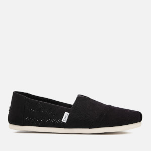 TOMS Men's Alpargata Perforated Slip-On Pumps - Black