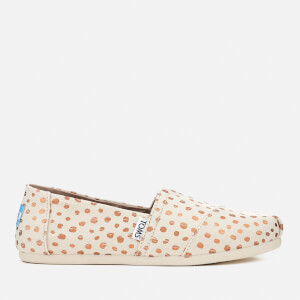 TOMS Women's Alpargata Canvas Slip-On Pumps - Rose Gold/Natural