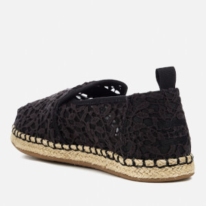 TOMS Women's Deconstructed Alpargata Rope Espadrilles - Black Lace Leaves: Image 2