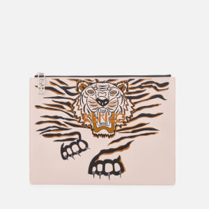 KENZO Women's Icon A4 Pouch - Faded Pink