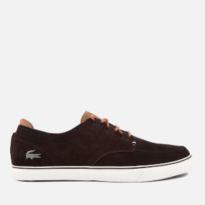 Lacoste Men's Esparre Deck 118 1 Suede Boat Shoes - Dark Brown/Light Brown