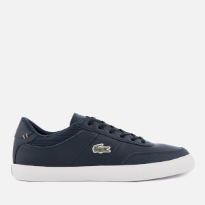 Lacoste Men's Court Master 118 2 Leather Trainers - Navy/Off White