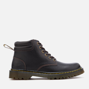 Dr. Martens Men's Faron Grainy Lace Low Boots - Dark Brown