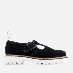 Dr. Martens Women's Polley II Soft Buck Mary Jane Flats - Black