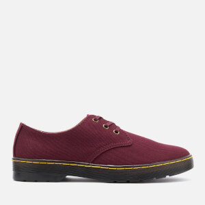 Dr. Martens Men's Delray Overdyed Twill Canvas Lace Shoes - Oxblood