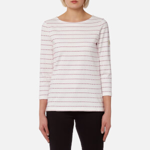 Joules Women's Harbour Jersey Top - Ruby Pink Spot