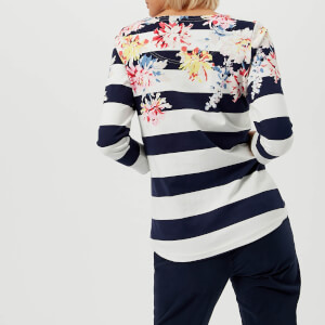 Joules Women's Harbour Printed Jersey Top - Stripe Whitstable Floral