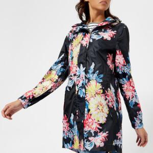 Joules Women's Golightly Waterproof Packaway Jacket - Navy Whitstable Floral