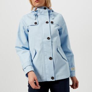 Joules Women's Coast Waterproof Hooded Jacket - Light Blue Steel