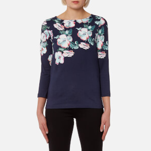 Joules Women's Harbour Print Jersey Top - Navy Poppy