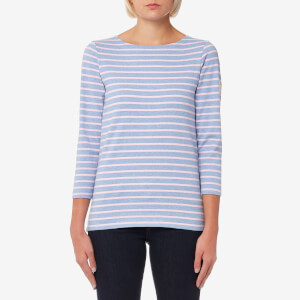 Joules Women's Harbour Jersey Top - Pink Stripe