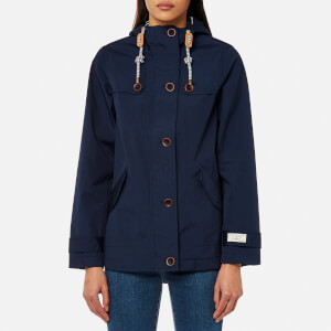 Joules Women's Coast Waterproof Hooded Jacket - French Navy