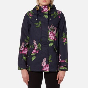 Joules Women's Coast Print Waterproof Hooded Jacket - Navy Floral