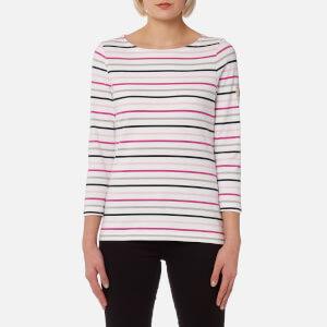 Joules Women's Harbour Jersey Top - Raspberry Cream Stripe