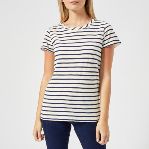 Joules Women's Nessa Stripe Jersey T-Shirt - Cream Navy Stripe