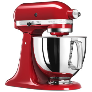 KitchenAid 5KSM125BER Artisan 4.8L Tilt-Head Stand Mixer - Empire Red