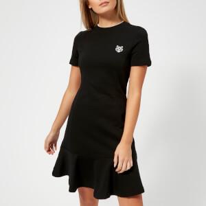 KENZO Women's Light Cotton Molleton T-Shirt Dress - Black