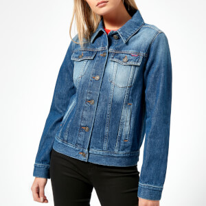 KENZO Women's Hyper Graphic Stone Washed Denim Jacket - Navy Blue