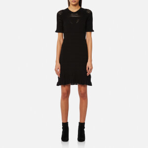KENZO Women's Short Sleeve Flare Dress - Black