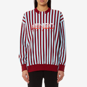 KENZO Women's Stripes Light Cotton Molleton Sweatshirt - Bordeaux