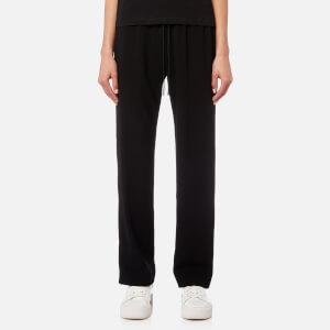 KENZO Women's Crepe Back Satin Trousers - Black