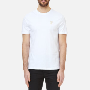Versace Collection Men's Small Logo T-Shirt - White/Gold
