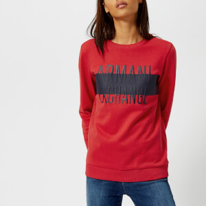 Armani Exchange Women's Logo Sweatshirt - Lollipop