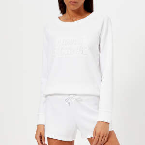 Armani Exchange Women's Faded Logo Sweatshirt - White