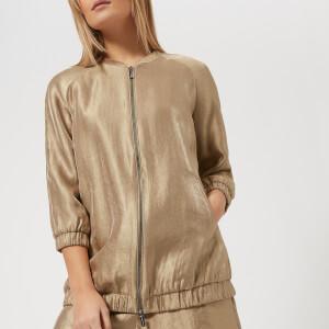 Armani Exchange Women's Metallic Jacket - Gold