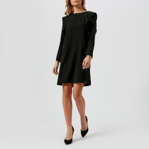 Armani Exchange Women's Frill Sleeved Dress - Black
