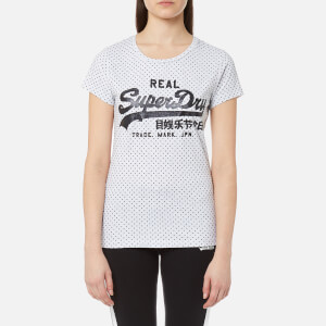 Superdry Women's Vintage Logo Flock Dot Entry T-Shirt - Ice Marl