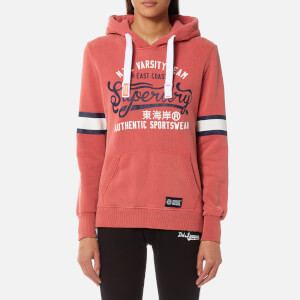 Superdry Women's Varsity Team Entry Hooded Sweatshirt - Rush Red