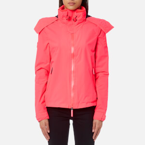 Superdry Women's Hooded Cliff Hiker Jacket - Coral Punch/Deep Marine