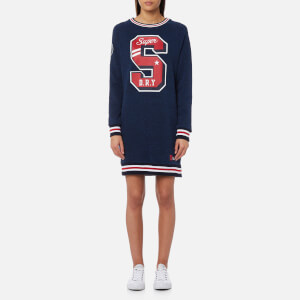 Superdry Women's Charlie Sweat Dress - Captain Navy Rugged