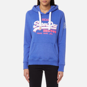 Superdry Women's Vintage Logo Tri Entry Hoody - Sky Blue