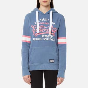 Superdry Women's Varsity Team Entry Hooded Sweatshirt - Sorority Blue