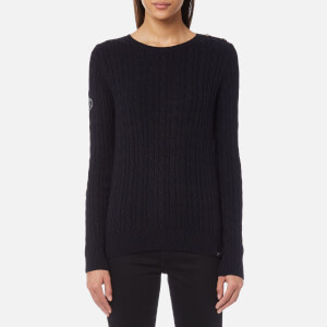 Superdry Women's Croyde Cable Knitted Jumper - Eclipse Navy